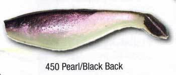 "Luckie Strike Shad Minnow MC 6"" Pearl/Black Back"