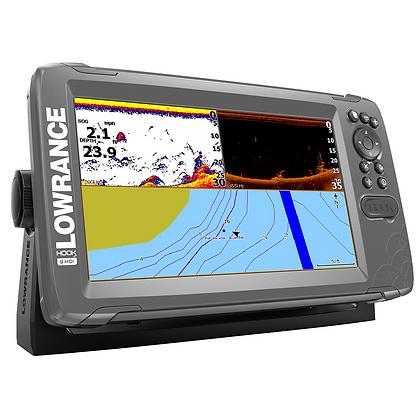 """HOOK2-9 9"""" Chartplotter/Fishfinder SplitShot Transom Mount Transducer w/Nav+ Cha"""