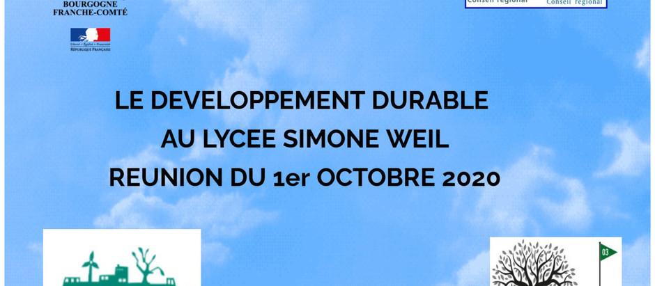 E3D - Compte rendu de la réunion du 1er octobre 2020