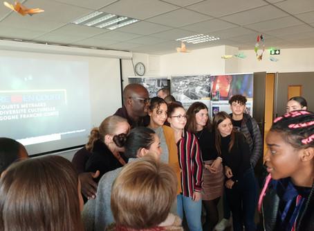 Lilian TUHRAM et Pascal BLANCHARD au lycée Simone Weil - Un 3ème prix pour l'Option audiovisuelle