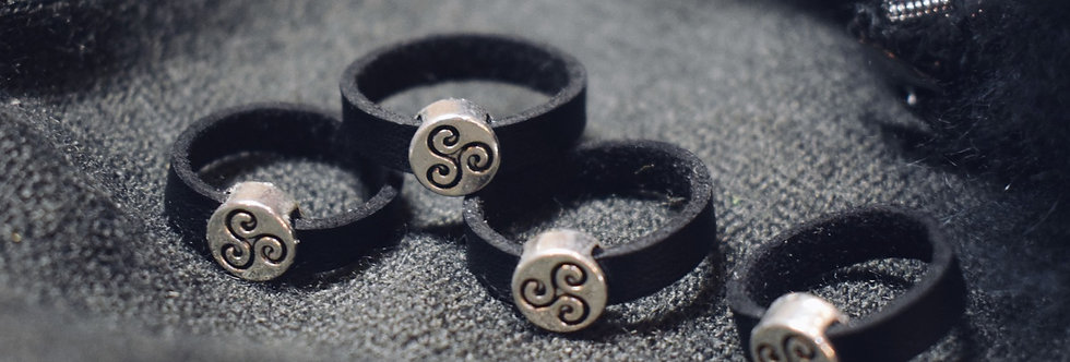 Celtic Leather Ring