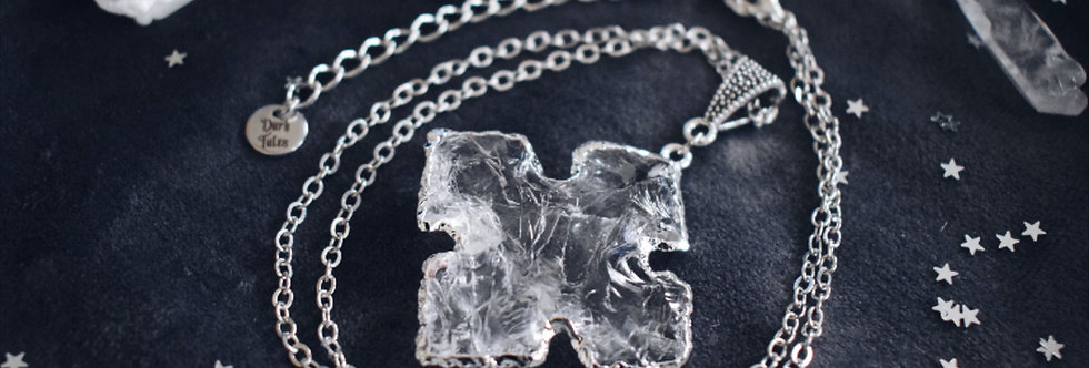 Raw Crystal Cross Necklace