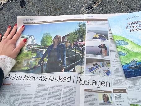Статья обо мне в шведской газете Norrtelje Tidning