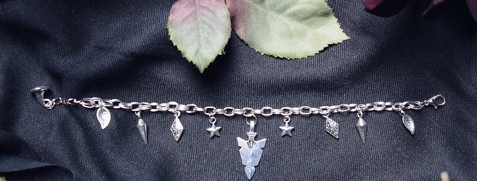 Minimalistic Wiccan Charm Bracelet