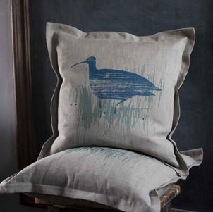 Curlew Cushion Helen Minns