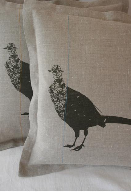 Pheasant Cushion Helen Minns
