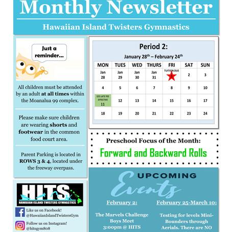 February 2019 Monthly Newsletter