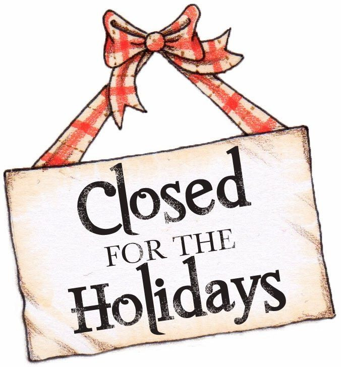Closed for the Holidays sign