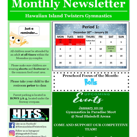 January 2020 Monthly Newsletter
