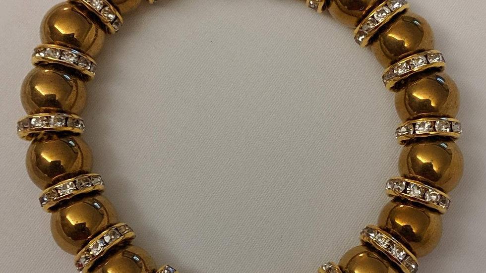 """Beaded Bracelet (""""Matte Bronzite"""")"""