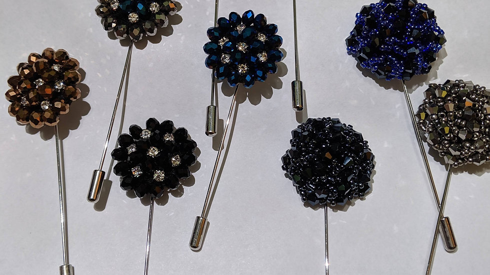 Beaded  Lapel Pin  (Multi-Colors)