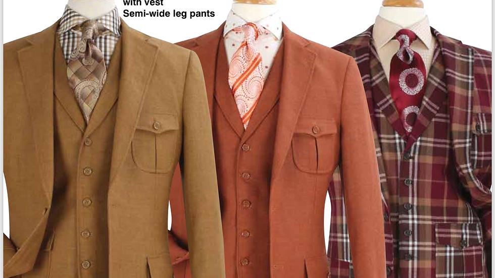 Custom Design Patch Pocket (3) Piece Suit