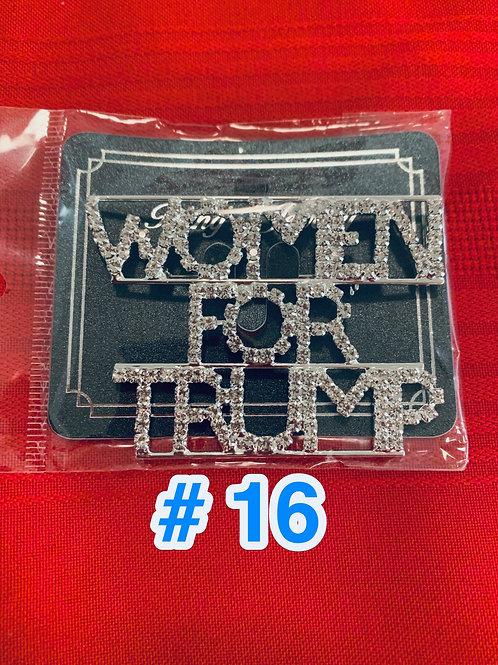 Trump Pin #16             DONATION OF