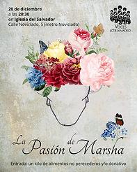 Cartel La Pasion de Marsha Iglesia Novic