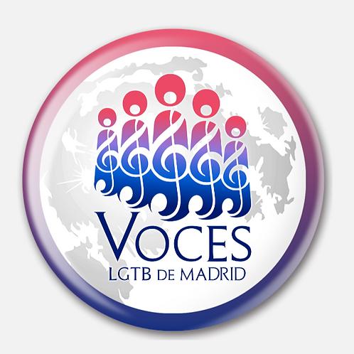 Chapa Oficial VOCES LGTB de Madrid