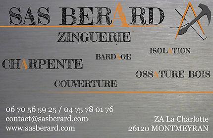 Carte De Visite Sas Berard Couverture Zinguerie Charpente