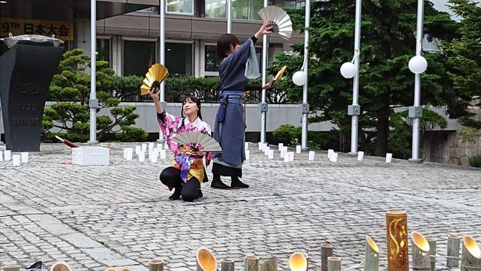 札幌市役所聖火台前キャンドルナイト