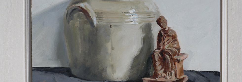Confit pot and terracotta figurine I