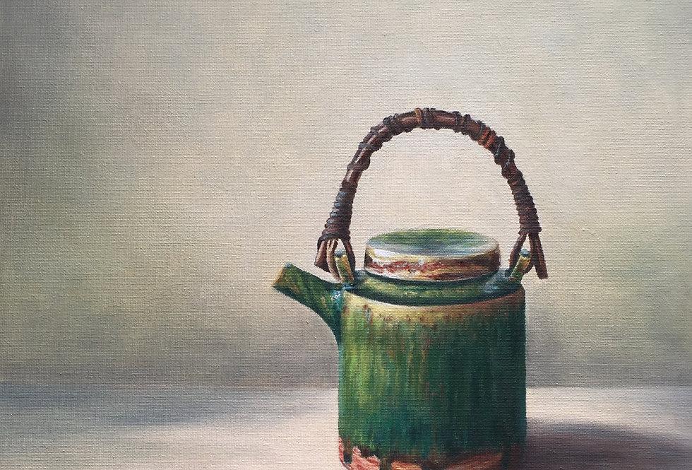 Oribe Japanese teapot