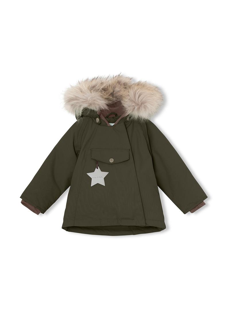 1203094700 Wang Fur Jacket, M- Forest Ni