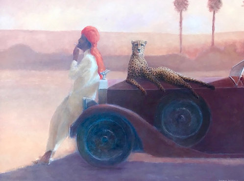 Cheetah on Bonnet