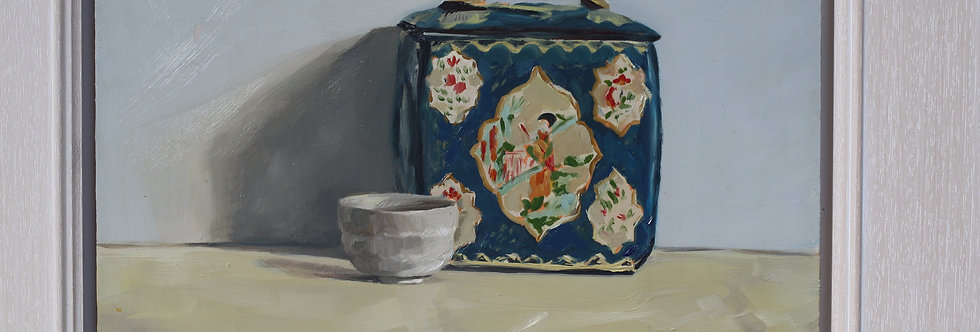 Tea Caddy and Japanese cup