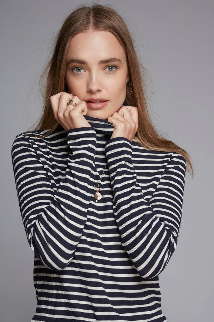 Stripe Roll Neck_LavenderHill_NavyEcru_£