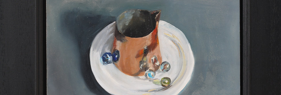 Copper Jug and Marbles