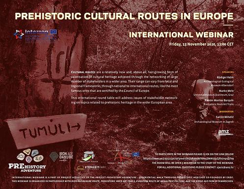 PREHISTORIC CULTURAL ROUTES IN EUROPE - International Webinar