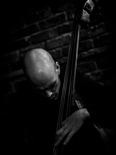 Ben Hazleton on double bass