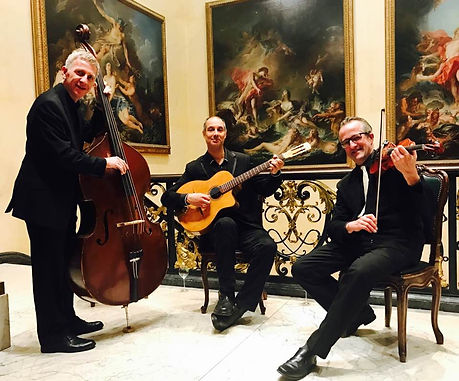 Champagne swing playing for a function at the Wallace Collection in London