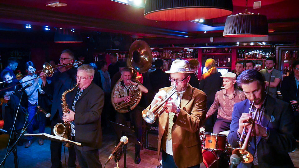 Brass Volcanoes playing live Upstairs at Ronnie Scott's, Lonon