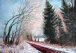 The Nickey Line - with snow