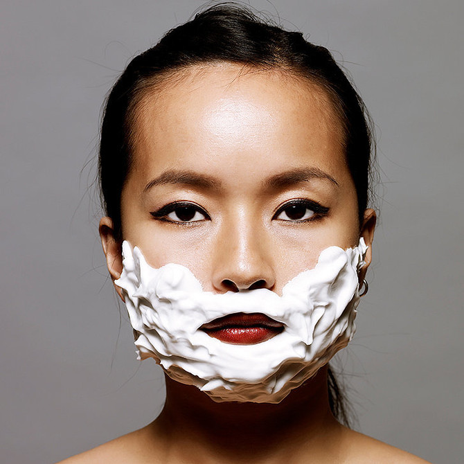 What's up with women shaving their faces?