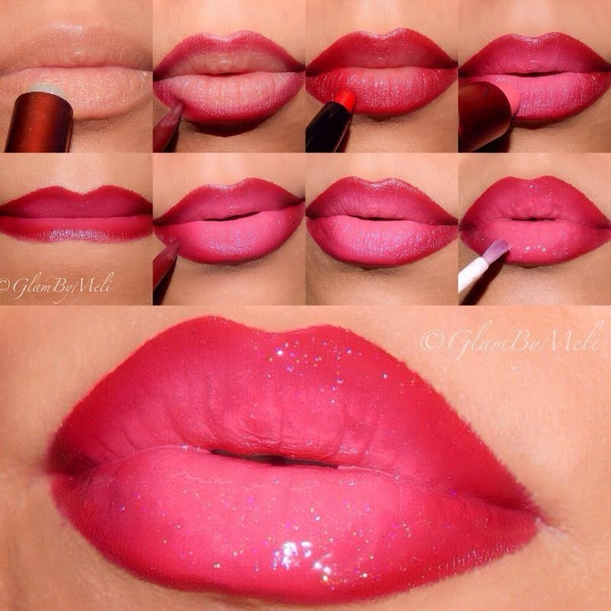 Ombre Glossy Valentine Lips!