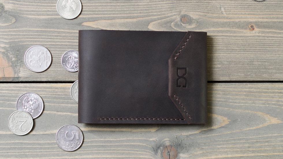 Кошелек с карманом для монет на кнопках