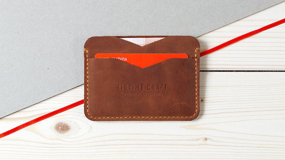 Светло-коричневый мини-кошелек для нагрудного кармана