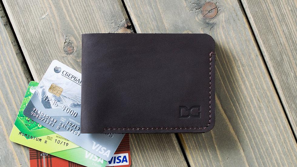 Классический бумажник для карт и купюр