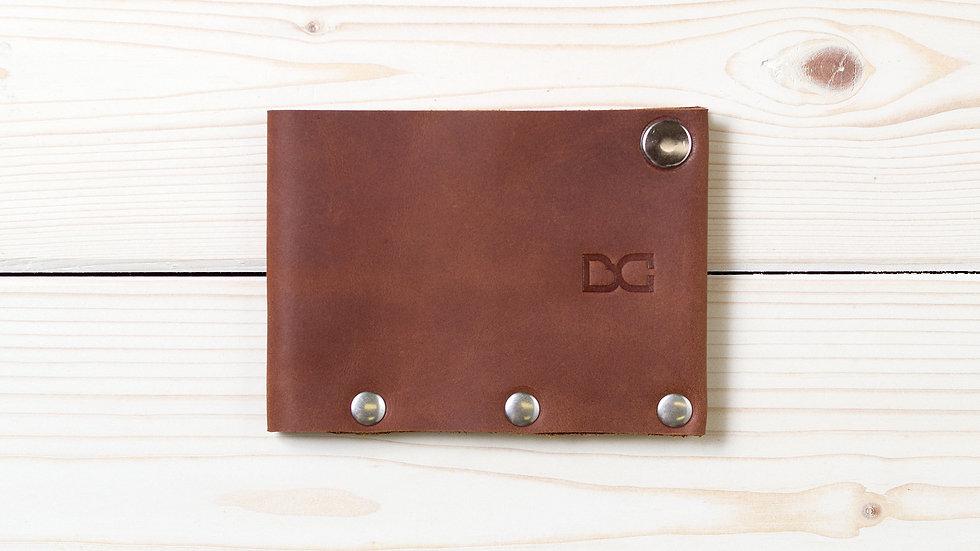 Классический светло-коричневый бумажник для карт и купюр «SIMPLE»