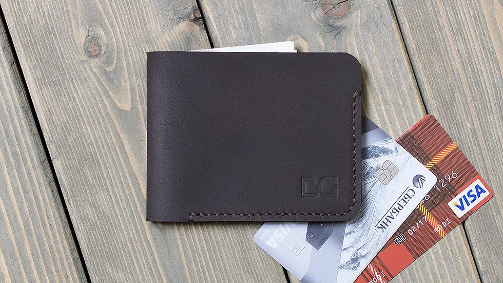 Недорогой и тонкий бумажник для карт и купюр