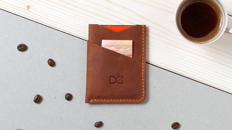 Светло-коричневый мини-кошелек