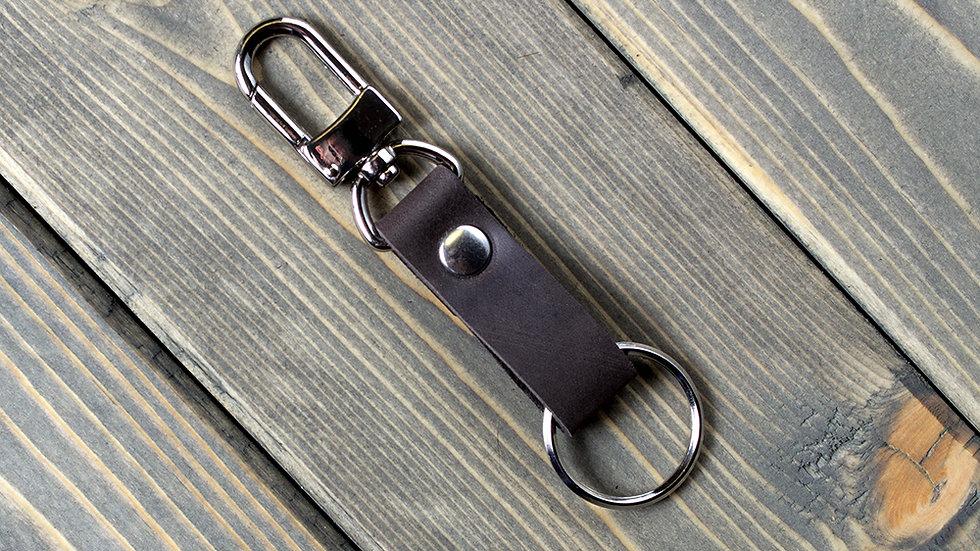 Кожаный держатель для ключей на джинсы