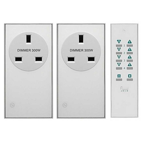 LightwaveRF Remote Control Dimmable Socket Kit - 2