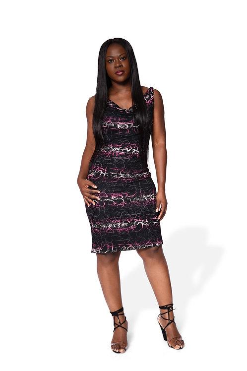 Cowl Neck Short Gown