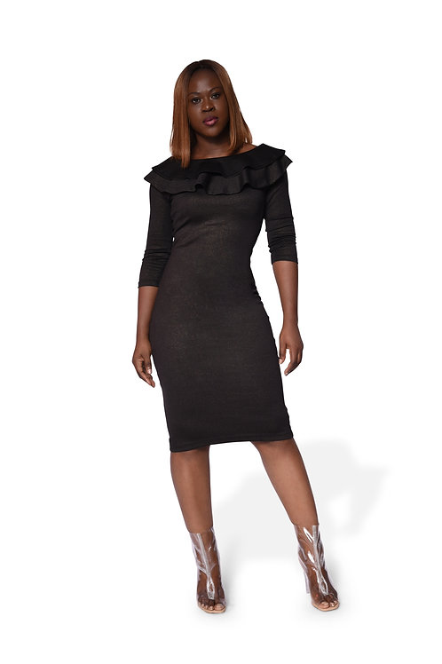 Frail Neck Gown - Black