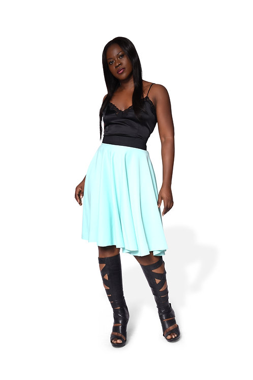 Full circle Skirt - Sea green