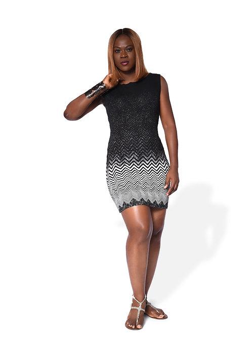 Body Corn Dress - Geometric Print