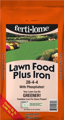 Lawn Food Plus Iron is part of a simple 3-step lawn care program.