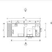 1 Bedroom 8 x 3.3 mtr unit with ensuite