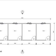 4 Bedroom 12 x 3.6 mtr unit